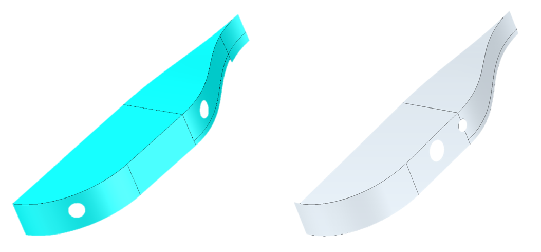 Two separate versions of same model