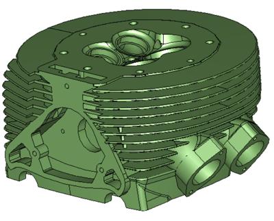 Cylinder-head with 2569 NURBS faces:  multi-threaded simplification = 27s; single-threaded = 38s
