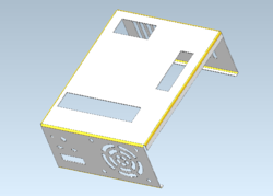 Cylindrical bends of computer housing detected by CGM Modeler