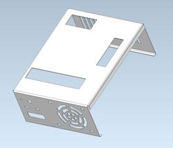Desktop computer housing manufactured from sheet-metal