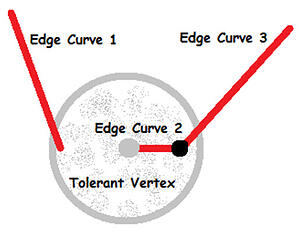 Tolerances of Vertices cannot entirely consume neighboring edges