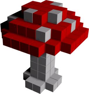 Voxel model example