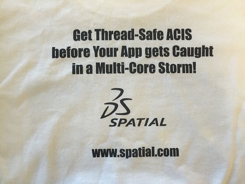 Thread-Safe ACIS Back T Shirt