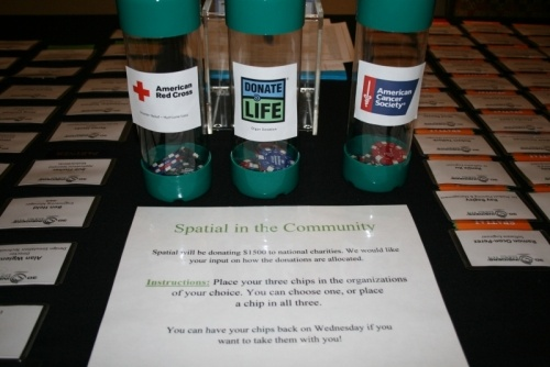 Charities chosen for donation