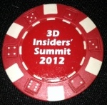 Spatial poker chip